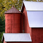 A collection of Barns that still can be seen while traveling the countryside in  the beautiful State of Wisconsin.<br /> Waushara County- Barn on Hwy 21 west of Wautoma.