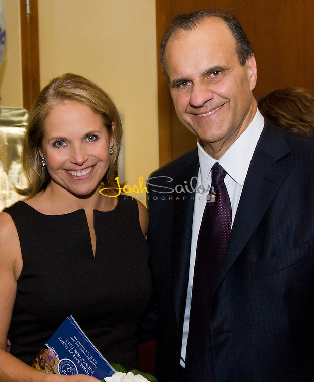 Joe Torre and Katie Couric at the Joe Torre Safe At Home® Foundation Fifth Annual Gala