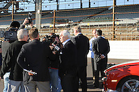 Chevrolet Indy Car engine announcement, Indianapolis Motor Speedway, Roger Penske