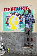 Sign in San Juan y Martinez, Pinar del Rio, Cuba.