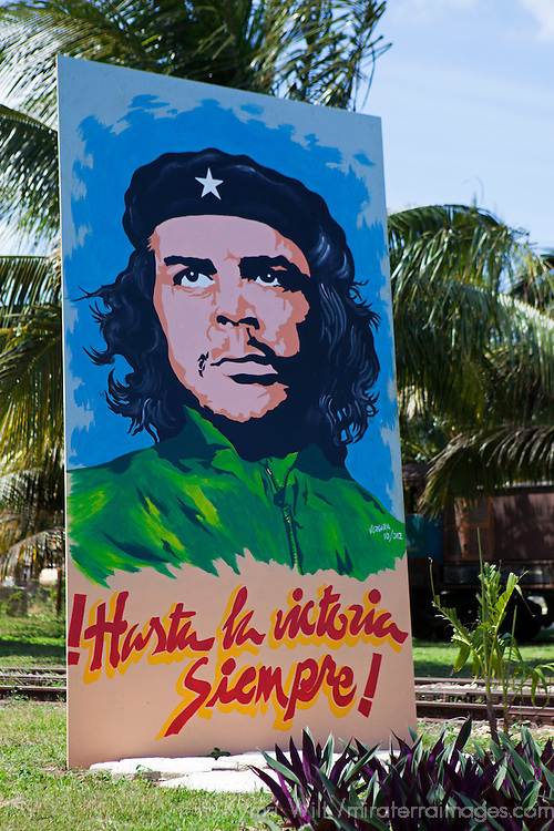 Central America, Cuba, Remedios. Che Guevara poster in Remidios.