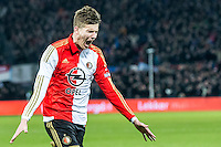 ROTTERDAM - Feyenoord - AZ , Voetbal , Seizoen 2015/2016 , Halve finales KNVB Beker , Stadion de Kuip , 03-03-2016 , Speler van Feyenoord Michiel Kramer viert de 2-1