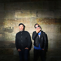 Pat Davern and Phil Jamieson from the band Grinspoon pose for a portrait in Sydney on Friday, Sept. 21, 2012.  (AAP Image/Marianna Massey) NO ARCHIVING