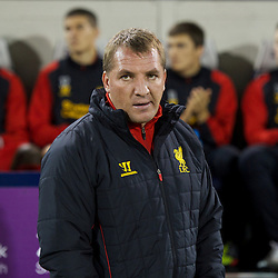 WEST BROMWICH, ENGLAND - Wednesday, September 26, 2012: Liverpool's manager Brendan Rodgers during the Football League Cup 3rd Round match against West Bromwich Albion at the Hawthorns. (Pic by David Rawcliffe/Propaganda)
