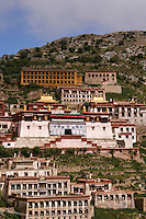 Ganden Monastery or Ganden Namgyeling is one of the 'great three' Gelukpa university monasteries of Tibet, located at the top of Wangbur Mountain,  36 kilometers from Lhasa. The other two 'great monasteries' are Sera Monastery and Drepung Monastery both inside Lhasa city itself.