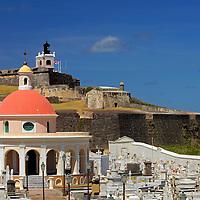 USA, Puerto Rico, San Juan. Seaside cemetary of Puerto Rico.
