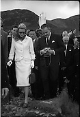 1961 - Princess Grace and Prince Rainier of Monaco at Westport, Co. Mayo