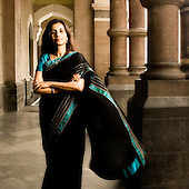 Portraits of Chanda Kochhar - CEO of ICICI Bank 2008-09