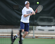 Oxford High's Will Huntington vs. Saltillo in tennis at Avent Park on Mondday, March 29, 2010 in Oxford, Miss.