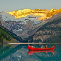 Sunrise at Lake Louise, Banff National Park, Alberta, Canada