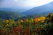 Image of mountains and rolliing hills of Shenandoah National Park, North Carolina and Virginia, east coast
