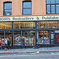 A view of city lights bookstore in San Francisco.  Mandatory Credit: Dinno Kovic / Dinno Kovic Photography