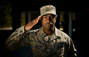 Technical Sgt. Damon Mazyck, 437th Security Forces, poses for a portrait at Charleston Charleston Air Force Base, S.C., on Oct. 30, 2008.