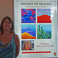 Caroline was selected as Artist-in Residence at Mojave National Preserve, United States National Park Service, for Spring 2016.  Her exhibit will be on display through July 30, 2016 at Desert Light Gallery, Kelso, CA.