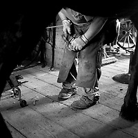 Farrier demonstration at Stonefield, Cassville, Wisconsin-June 2010.