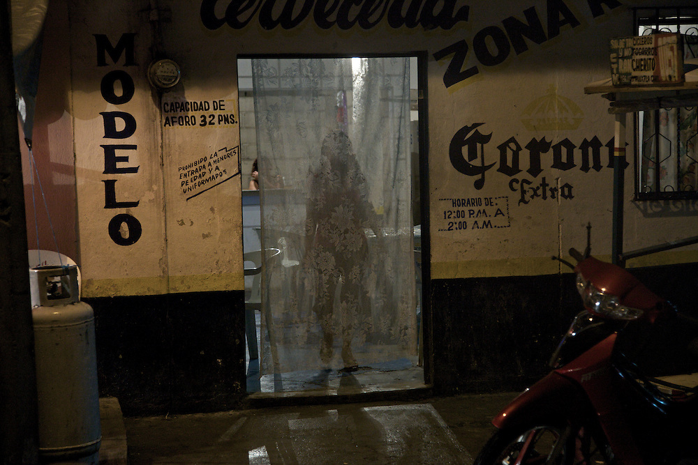 Huixtla, Chiapas. Entance of one of the bars near the brothels in the Zona de Tolerancia.  - Prostitution on Mexican Southern Border