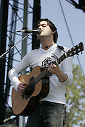 June 16, 2006; Manchester, TN.  2006 Bonnaroo Music Festival. Bright Eyes performs at Bonnaroo 2006.  Photo by Bryan Rinnert