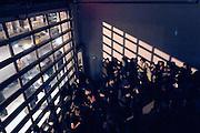 USA, Nordamerika, New York, New York City, Manhattan, Chelsea, Schlussfeier zur Ausstellung von Jim Drain and Ara Peterson's 'Hypnogooia' in der Deitch Gallery, 18 Wooster Street, Auftritt von KING YELLOWMAN (digital photo: 3200 ASA/ 36 DIN)