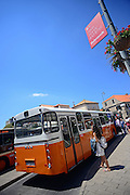 City bus outside Old Town of Dubrovnik, Croatia