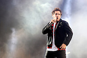 READING, ENGLAND - AUGUST 24:  Josh Franceschi of You me At Six performs live on the Main Stage during Day One of Reading Festival 2012 at Richfield Avenue on August 24, 2012 in Reading, England.  (Photo by Simone Joyner/Getty Images)
