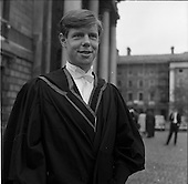 1963 - Degree day at Trinity College Dublin
