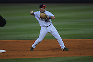 Ole Miss' Austin Anderson (8) takes the relay throw vs. Arkansas State at Oxford-University Stadium in Oxford, Miss. on Wednesday, March 27, 2013.