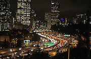 Traffic coming into Seattle on Interstate-5 photographed from Beacon Hill. (Steve Ringman / The Seattle Times)