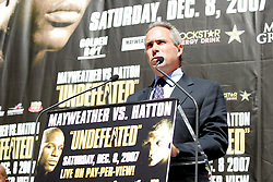 September 19, 2007; New York, NY, USA; HBO's Ross Greenberg at the press conference announcing the bout between World Welterweight Champion Floyd Mayweather Jr and World Junior Welterweight Champion Ricky Hatton.  The fight will take place on December 8, 2007 at the MGM Grand Garden Arena in Las Vegas, Nevada.