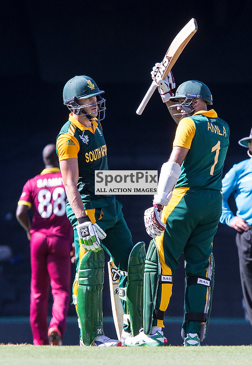 ICC Cricket World Cup 2015 Tournament Match, South Africa v West Indies, Sydney Cricket Ground; 27th February 2015<br /> South Africa&rsquo;s Hashim Amla acknowledges the crowd after scoring 50