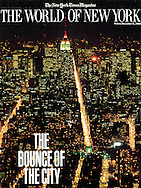 New York Times Magazine Cover, Bounce of New York, view from Twin Towers