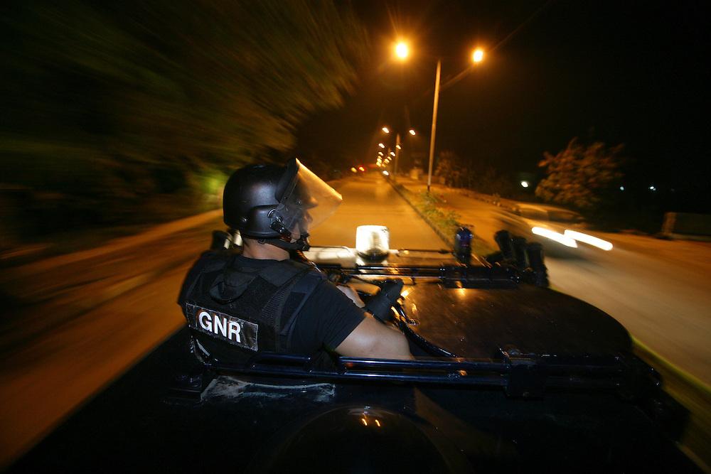 Portuguese FPU during a night patrol in Dili. @ UNMIT/Martine Perret. 26 June 2007
