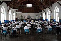 Exam Day at St. Georges Anglican Senior School. St. Georges, Grenada. Image taken with a Nikon D3x and 14-24 mm f/2.8 lens (ISO 800, 24 mm, f/2.8, 1/320 sec).