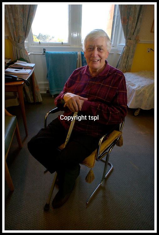 Scots Makar... poet Edwin Morgan, newly appointed as the National Poet of Scotland, photographed in the Bearsden nursing home where he is living presently ... Pic Donald MacLeod 18.02.04