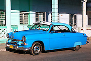 Old blue car in Calabazar, Havana, Cuba.
