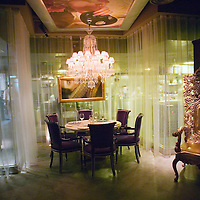 BEIJING, JANUARY-19:the dining area of   the LAN Club, the latest addition to Beijing's high-end venues, January 19, 2007...The LAN was designed by Phillipe Starck and spans 6000 square metres.