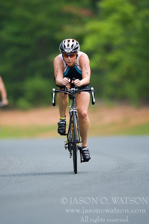 CHARLOTTESVILLE, VA - July 27, 2008 - BETSY SMIDINGER in The 2008 Charlottesville International Triathlon was held at Walnut Creek Park in Albemarle County near Charlottesville, Virginia, USA.