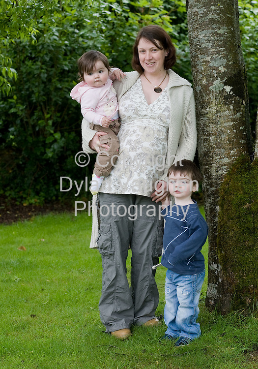 4/6/2008.Martina Nathan pictured with her Kids Emma aged one and Freddie aged two an a half.. Picture Dylan Vaughan.