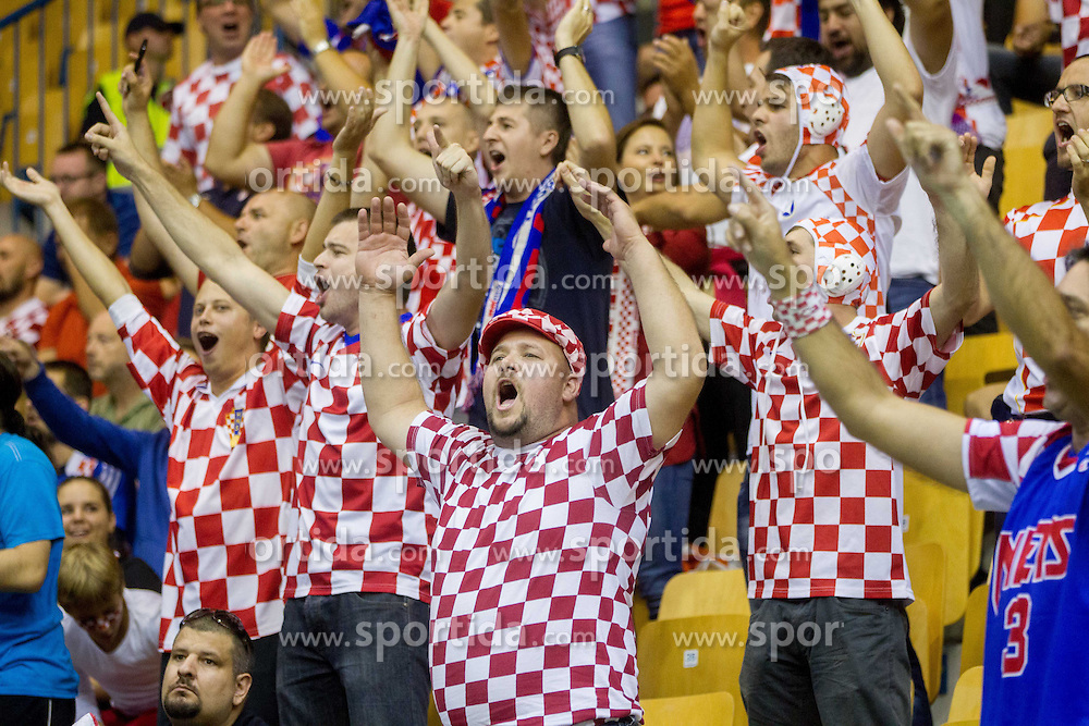 Fans during basketball match between National teams of Croatia and Czech Republic in Round 1 at Day 6 of Eurobasket 2013 on September 9, 2013 in Arena Zlatorog, Celje, Slovenia. (Photo by Vid Ponikvar / Sportida.com)