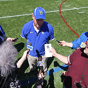 Delaware New Head Coach Dave Brock meets with the media after The University of Delaware Annual Spring football game Saturday, May. 04, 2013 at Delaware Stadium in Newark Delaware...Delaware will open it home schedule against Jacksonville University Aug. 29, 2013 at 7:30 p.m