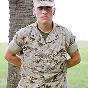 Marine Recruit Depot Parris Island South Carolina July 14th 2011. Family day for 1st Bn Co D.