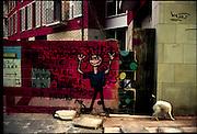 ©Stefano Meluni.20-12-2004 Barcelona Spain.City overview of Barcelona.nella foto: Murales in Raval district