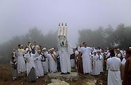 """=  the high priest with the sepher thora during The Samaritans: """"Shavouot"""" Pilgrimage on the mount Gerizim,  (Israelite ceremony)    Israel  ///  Samaritains: pelerinage de shavouot sur le mont Gerizim, la montagne sacrée.  Israel le grand pretre avec les rouleaux du sepher thora +"""