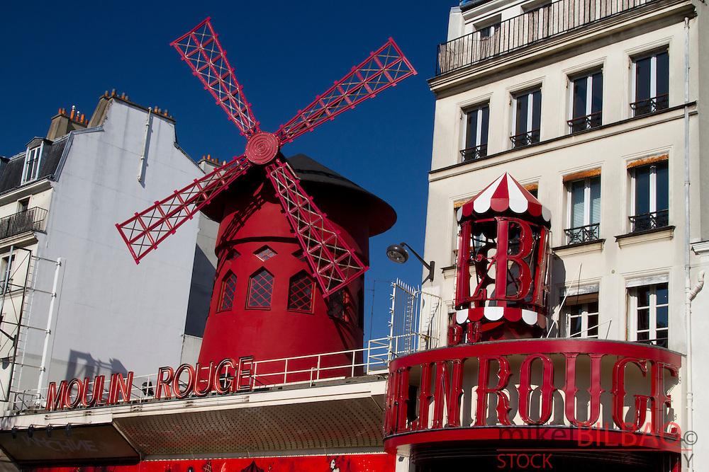 cabaret &quot;Moulin Rouge&quot;. Pigalle. Montmartre. <br /> Paris, Francia