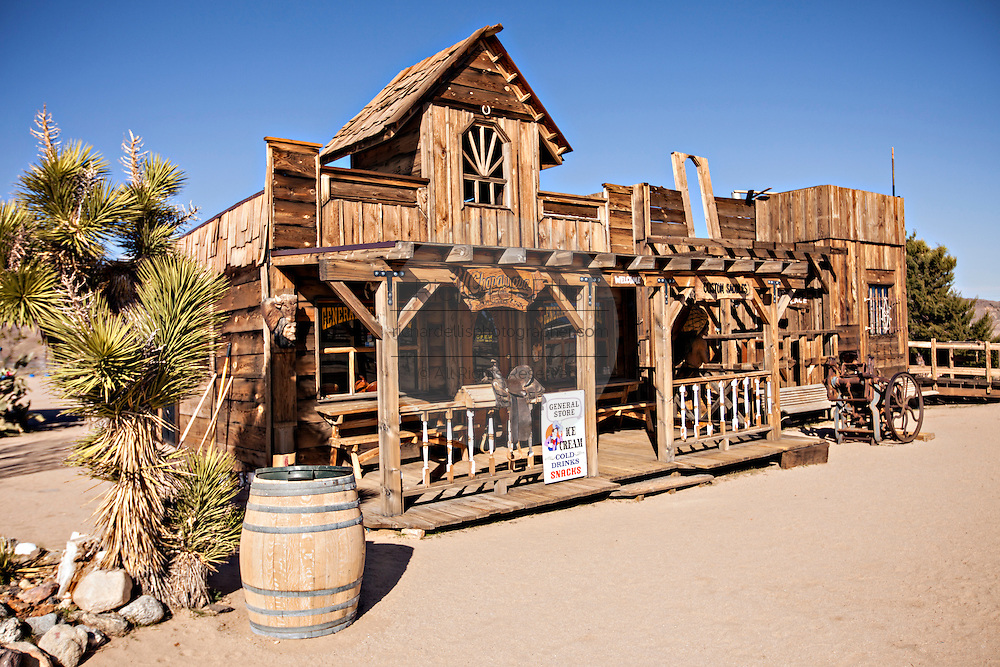 Old West movie set at Pioneertown, California.