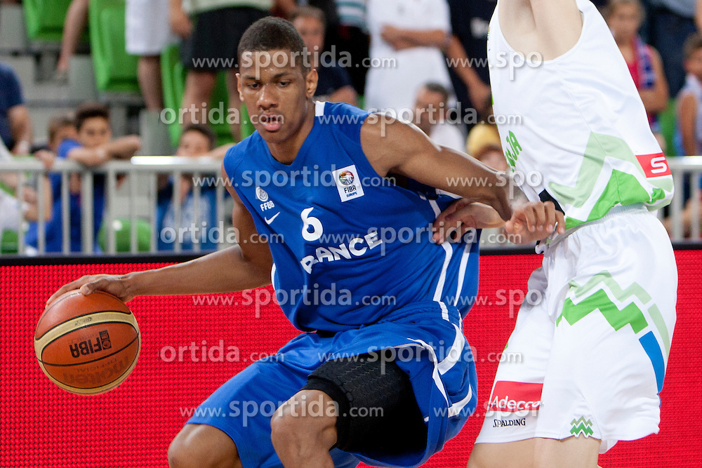 Axel Toupane of France during basketball match between National teams of Slovenia and France in Quarterfinal Match of U20 Men European Championship Slovenia 2012, on July 20, 2012 in SRC Stozice, Ljubljana, Slovenia. (Photo by Urban Urbanc / Sportida.com)