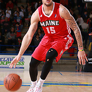 Maine Red Claws Guard DAVION BERRY (15) dribbles down the floor in the first half of a NBA D-league regular season basketball game between the Delaware 87ers and the Maine Red Claws Friday, Feb. 05, 2016 at The Bob Carpenter Sports Convocation Center in Newark, DEL.