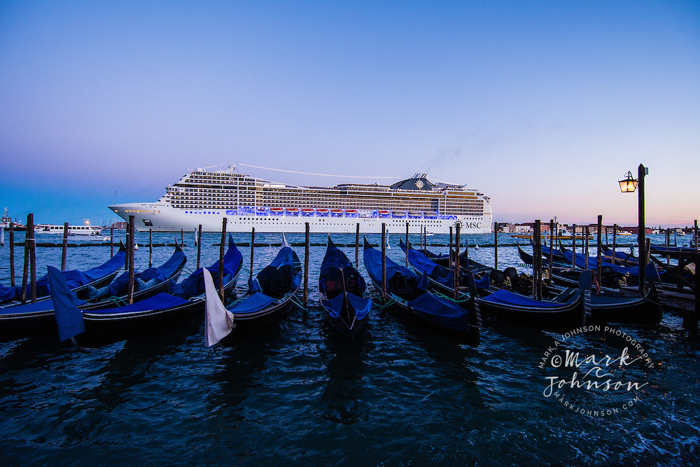 Cruise ship on the Grand Canal, Venice, Italy, Europe