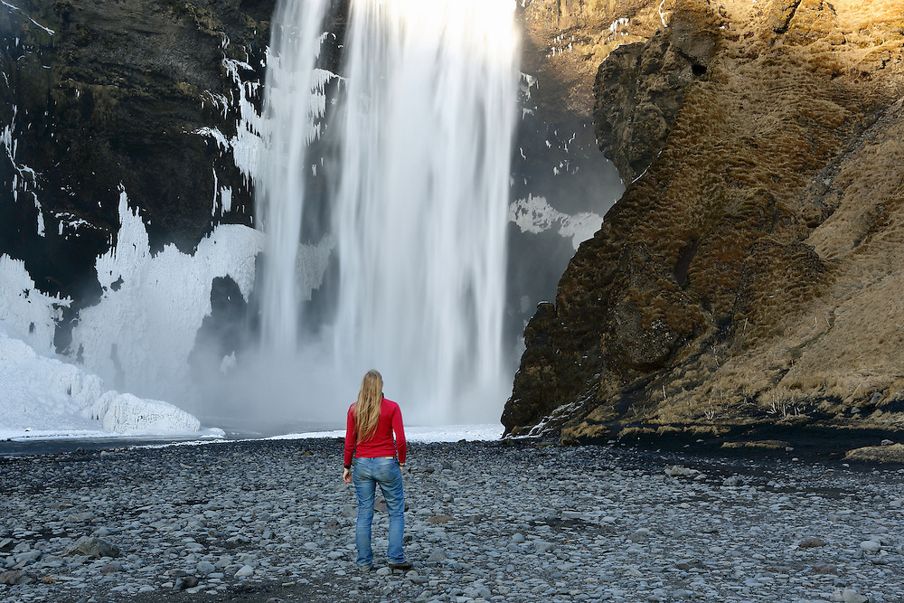 Self-Portrait at Skogafoss, Southern Iceland