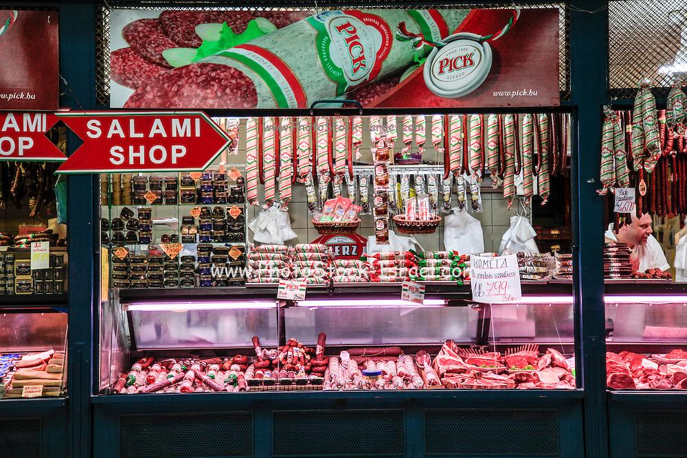 Salami Shop, Budapes, Hungary