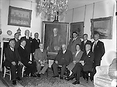 1954 Taoiseach Costello presenting a painting to Sir Chester Beatty